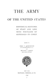 Cover of: The Army of the United States