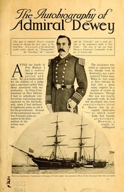 Cover of: The autobiography of Admiral Dewey