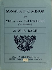 Cover of: Sonata in C minor for viola and harpsichord (or pianoforte)
