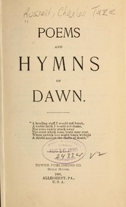 Cover of: Poems and hymns of dawn ...