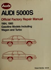 Cover of: Audi 5000S official factory repair manual