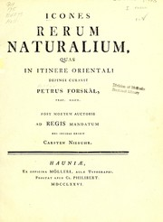 Cover of: Icones rerum naturalium