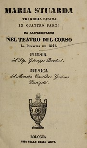 Cover of: Maria Stuarda