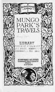 Cover of: Mungo Park's travels