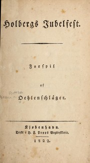 Cover of: Holbergs jubelfest