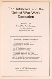 Cover of: The influenza and the United War Work Campaign