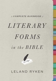 Cover of: A complete handbook of literary forms in the Bible