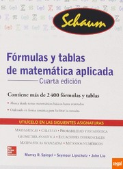 Cover of: Fórmulas y tablas de matemática aplicada