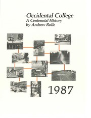 Cover of: Occidental College: a centennial history, 1887-1987