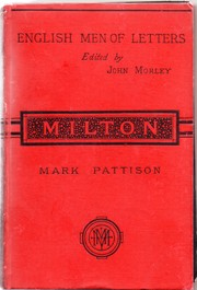 Cover of: Milton, by Mark Pattison ..