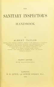Cover of: The sanitary inspector's handbook