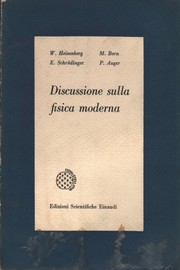 Cover of: Discussione sulla fisica moderna