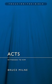 Cover of: Acts: Witnesses to Him