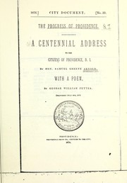 Cover of: Progress of Providence