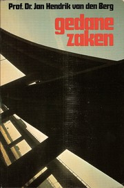 Cover of: Gedane zaken