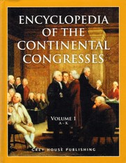 Cover of: Encyclopedia of the Continental Congresses (2 volume set)