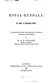 Cover of: Kopal-Kundala