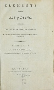 Cover of: Elements of the art of dying
