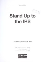 Cover of: Stand up to the IRS