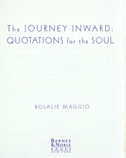 Cover of: The journey inward