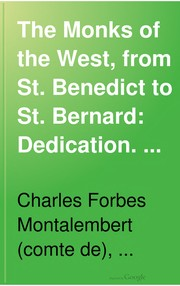 Cover of: The Monks Of The West, From St. Benedict To St. Bernard