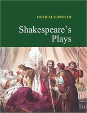 Cover of: Critical Survey of Shakespeare's Plays