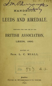 Cover of: Handbook for Leeds and Airedale