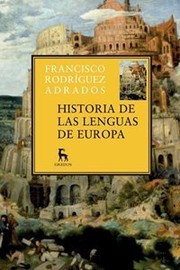 Cover of: Historia de las lenguas de Europa