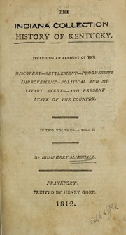 Cover of: The history of Kentucky