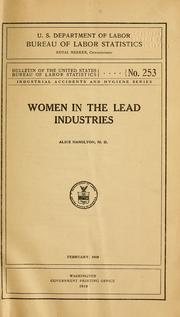 Cover of: Women in the lead industries