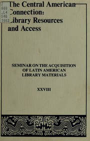 Cover of: The Central American connection