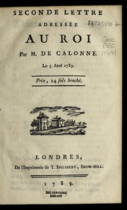 Cover of: Seconde lettre adresse e au Roi