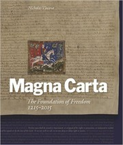 Cover of: Magna Carta: The Foundation of Freedom 1215-2015