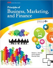 Cover of: Principles of Business, Marketing, and Finance