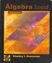 Cover of: Álgebra lineal.