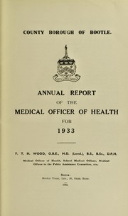 Cover of: [Report 1933]