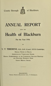 Cover of: [Report 1930]