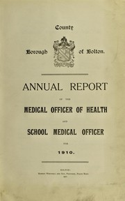 Cover of: [Report 1910]