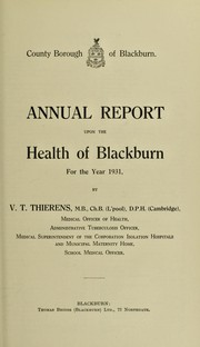 Cover of: [Report 1931]