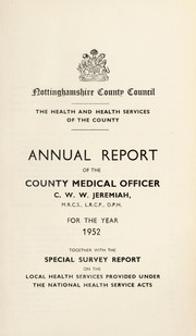 Cover of: [Report 1952]