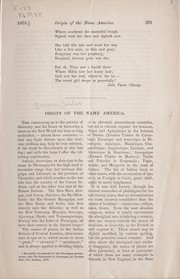 Cover of: Origin of the name America