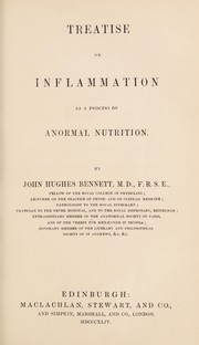 Cover of: Treatise on inflammation as a process of anormal nutrition