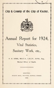 Cover of: [Report 1924]