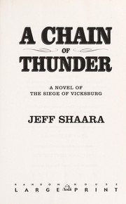 Cover of: A chain of thunder