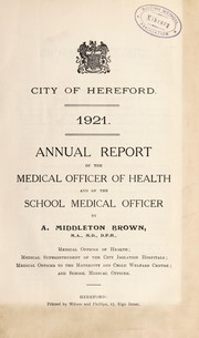 Cover of: [Report 1921]