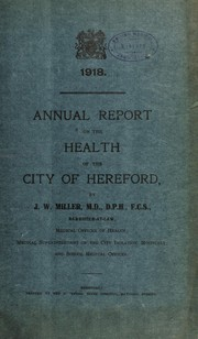 Cover of: [Report 1918]
