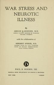 Cover of: War stress and neurotic illness