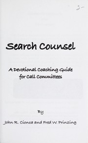 Cover of: Search counsel