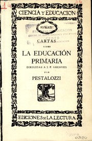 Cover of: Cartas sobre educación primaria