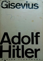 Cover of: dolf Hitler